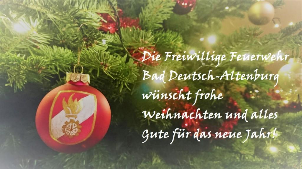 Frohe Weihnachten Besinnliche Feiertage.Frohe Weihnachten Freiwillige Feuerwehr Bad Deutsch Altenburg